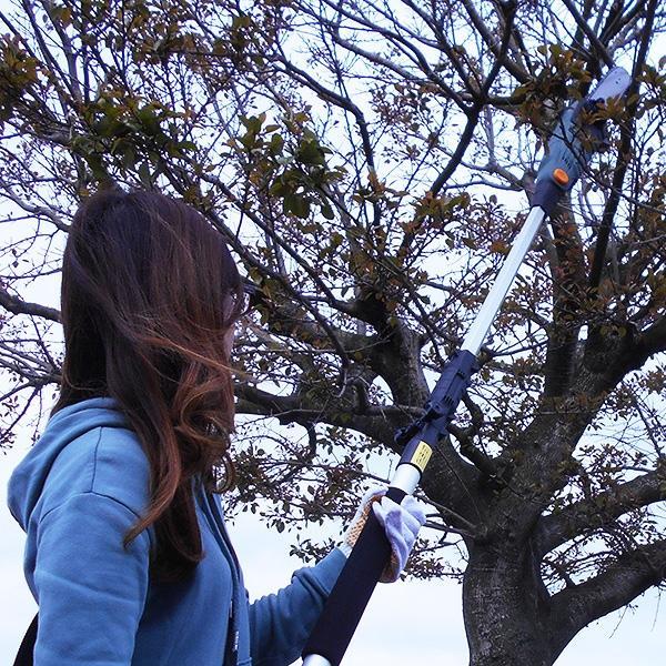 電動式チェーンソー 電動チェーンソー 10mコード付 高枝切りバサミ コード式 ロック付き ガーデンニング 枝切りばさみ 簡単操作 家庭用 手入れ こぎり