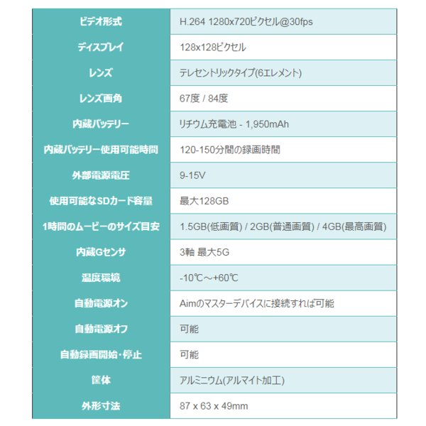 Aim SMARTYCAM HD REV.2.1 デジタルビデオカメラ 車載オンボード(エーアイエム)|star5|07