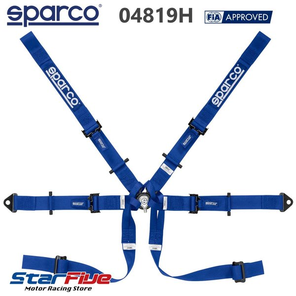 スパルコ 6点式シートベルト 04819H フォーミュラカー用 FIA8853-2016公認 Sparco|star5