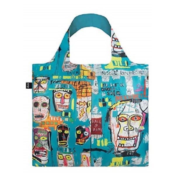 ローキー エコバッグ LOQI ジャン ミシェル・バスキア Jean-Michel Basquiat ブランドエコバッグ ショッピングバッグ スカル