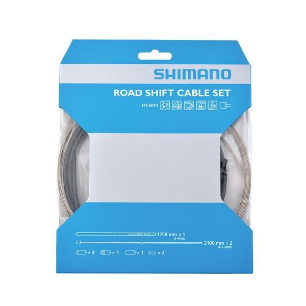 SHIMANO(シマノ) OT-SP41 ROAD ステンレス シフトケーブルセット ブラック Y60098022|starcycletokyo-pro