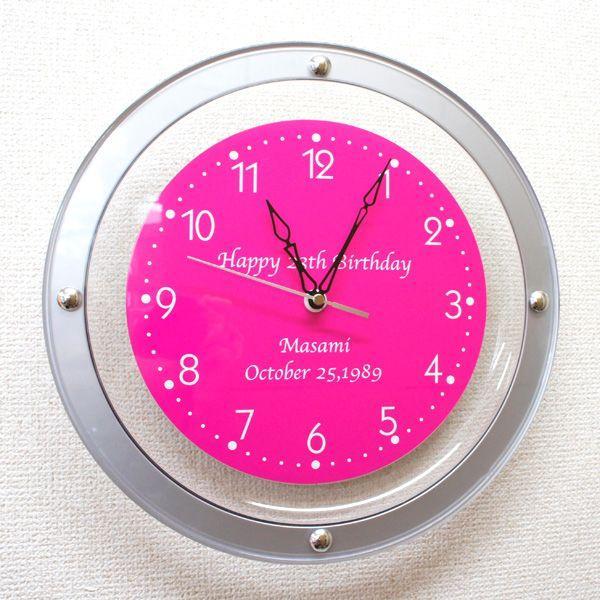 母の日メッセージ時計