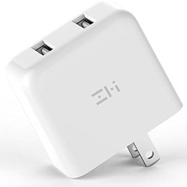 ZMI USB急速充電器 2ポート 18W 3.6A ACアダプタ コンセント PSE認証済み QC3.0対応 折畳式プラグ 超コンパクトサイト ZMI 正規代理店品 18ヶ月保証 HA622|starq-online|02
