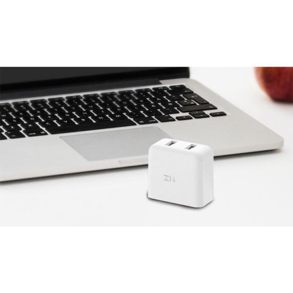 ZMI USB急速充電器 2ポート 18W 3.6A ACアダプタ コンセント PSE認証済み QC3.0対応 折畳式プラグ 超コンパクトサイト ZMI 正規代理店品 18ヶ月保証 HA622|starq-online|12