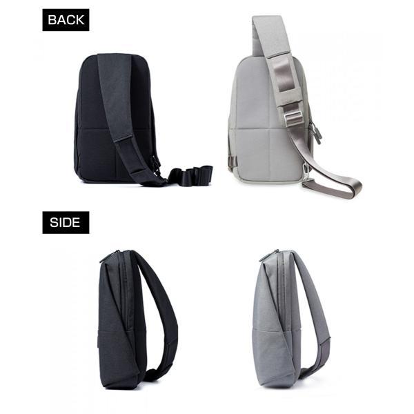 【正規品】ボディバッグ Mi City Sling Bag (ダークグレー/ライトグレー) Xiaomi 小米 シャオミ ショルダーバッグ 旅行 通学 通勤 大容量 コンパクト starq-online 10