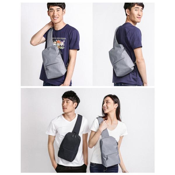 【正規品】ボディバッグ Mi City Sling Bag (ダークグレー/ライトグレー) Xiaomi 小米 シャオミ ショルダーバッグ 旅行 通学 通勤 大容量 コンパクト starq-online 02