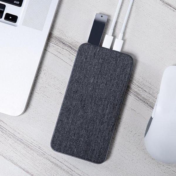 ZMI QB910 10000mAh QC&USB-PD急速充電対応モバイルバッテリー PSE認証済 ファブリックデザイン 低電流モード搭載 USBハブ機能付 18ヶ月保証|starq-online|06