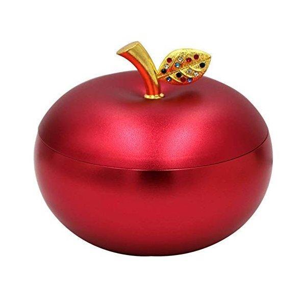 灰皿 おしゃれ 卓上 蓋付き 携帯 赤リンゴ 屋外 ギフト プレゼント