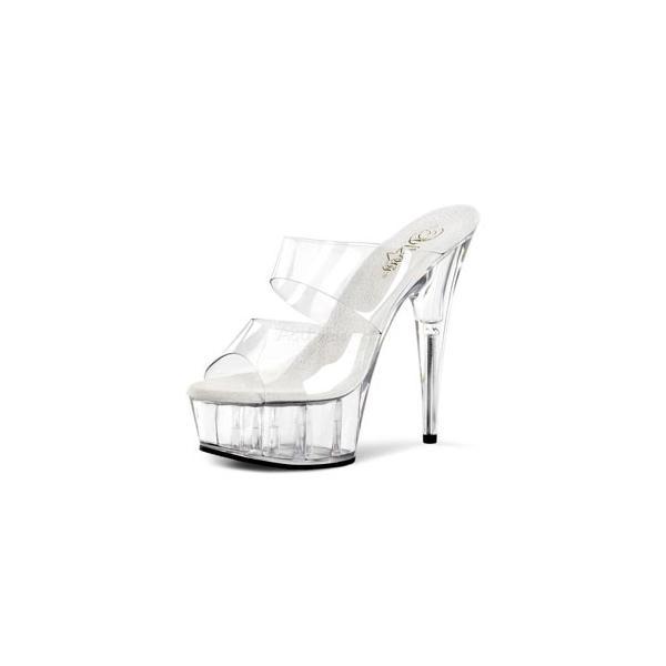 """Pleaser プリーザー ミュール DELIGHT-602 6"""" Heel(del602-c-m) ハイヒール レディース シューズ 靴 お取り寄せ商品"""