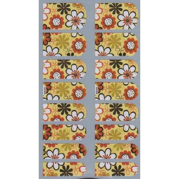 薄いネイルシール 柄タイプ 花 フラワ KA-008