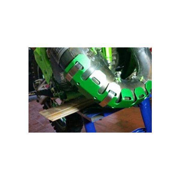 バイク オートバイ 排気マフラー シールドカバー カバー プロテクター ヒートシールド マフラーガード 熱シールド バイクマフラー 汎用 バンテージ|startside|11