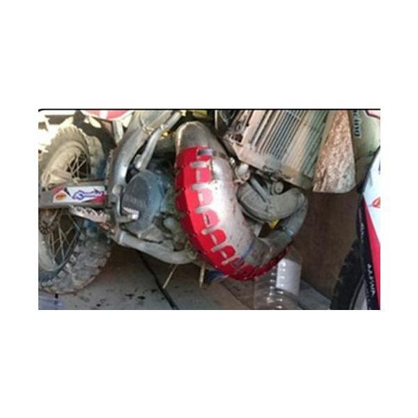 バイク オートバイ 排気マフラー シールドカバー カバー プロテクター ヒートシールド マフラーガード 熱シールド バイクマフラー 汎用 バンテージ|startside|13