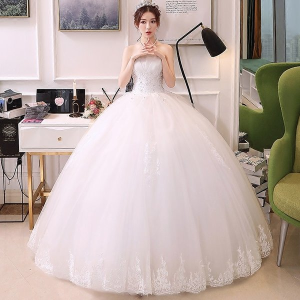 04678683a5727 ウェディングドレス 花嫁 ウエディングドレス 白 格安 スタンドカラー ブライダル wedding dress 結婚式 プリンセスライン ...