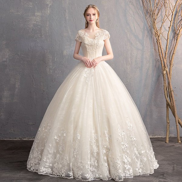 01d3c750c777a ウェディングドレス 花嫁 ウエディングドレス 白い 袖あり ブライダル wedding dress 結婚式 プリンセスラインドレス 二次会 パーティー ドレス