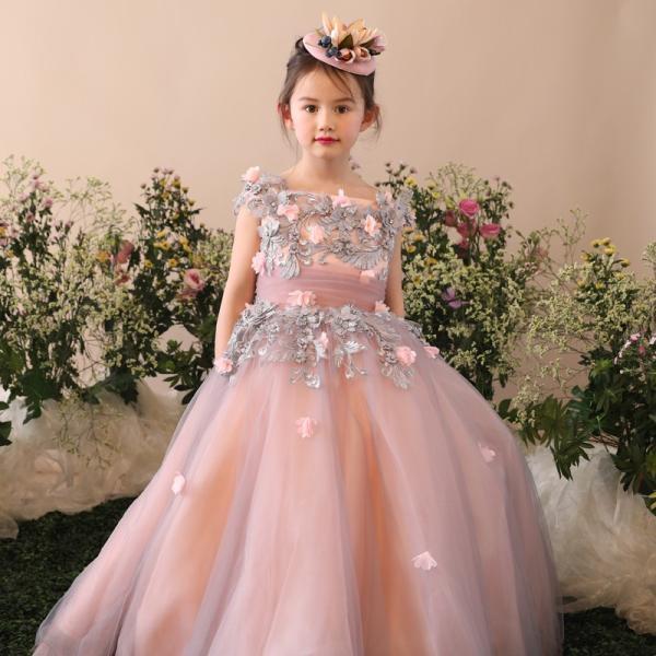84728f24d1dfc 子供ドレス ピアノ発表会 ピンク 安い キッズドレス ロングドレス 入園式 子どもドレス 結婚 ...