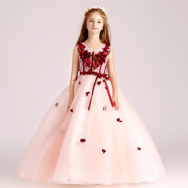 6f4e737ba9ca9 ... 子供ドレス ピアノ発表会 ピンク キッズドレス 披露宴 ロングドレス 入園式 子どもドレス 結婚 ...