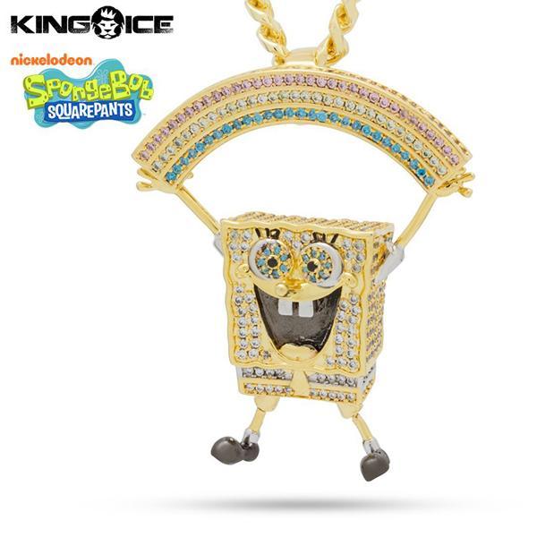 ゴールドネックレス キングアイス King Ice スポンジ・ボブ SpongeBob アクセサリー ペンダント メンズ / The Imagination Necklace