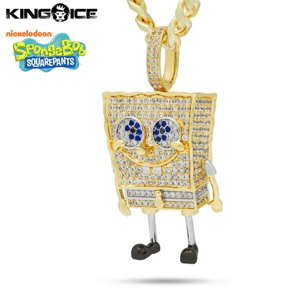 ゴールドネックレス キングアイス King Ice スポンジ・ボブ SpongeBob アクセサリー ペンダント メンズ 男性 / XL Spongebob