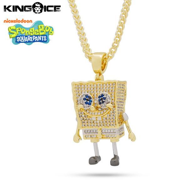 ゴールドネックレス キングアイス King Ice スポンジボブ SpongeBob アクセサリー メンズ / The Spongebob Squarepants Necklace