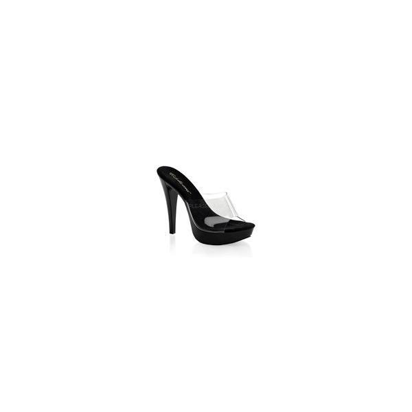 """ミュール サンダル Fabulicious Pleaser プリーザー COCKTAIL-501 5"""" Heel (ctail501-c-b) クリアー レディース お取り寄せ商品"""
