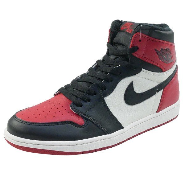 ナイキ NIKE AIR JORDAN 1 RETRO HIGH OG BRED TOE 555088-610 スニーカー 黒白 Size【28.0cm】 【新古品・未使用品】|stay246