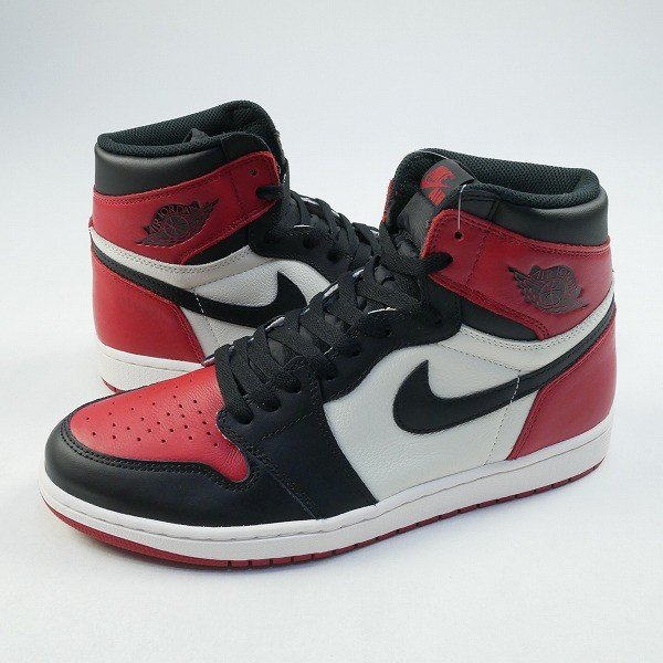 ナイキ NIKE AIR JORDAN 1 RETRO HIGH OG BRED TOE 555088-610 スニーカー 黒白 Size【28.0cm】 【新古品・未使用品】|stay246|03