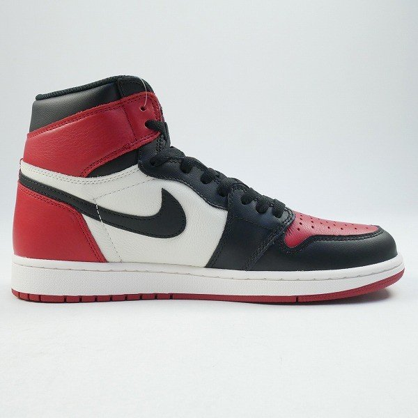 ナイキ NIKE AIR JORDAN 1 RETRO HIGH OG BRED TOE 555088-610 スニーカー 黒白 Size【28.0cm】 【新古品・未使用品】|stay246|08