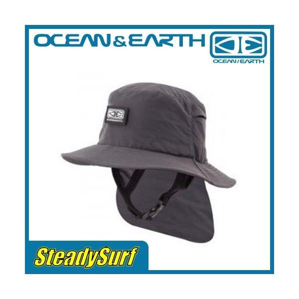 OCEAN&EARTH(オーシャンアンドアース) ハット INDO STIFF PEAK SURF HAT Black インド スティッフ ピーク サーフハット ブラック