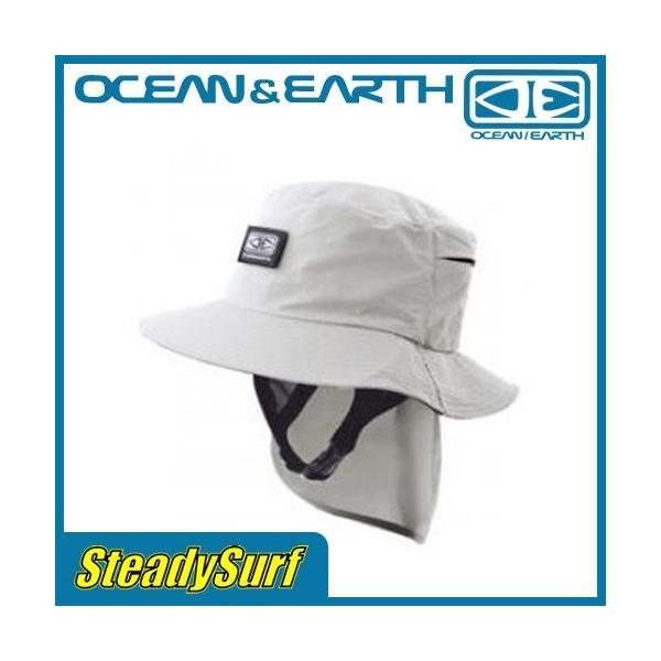 OCEAN&EARTH(オーシャンアンドアース) ハット INDO STIFF PEAK SURF HAT Grey インド スティッフ ピーク サーフハット グレー