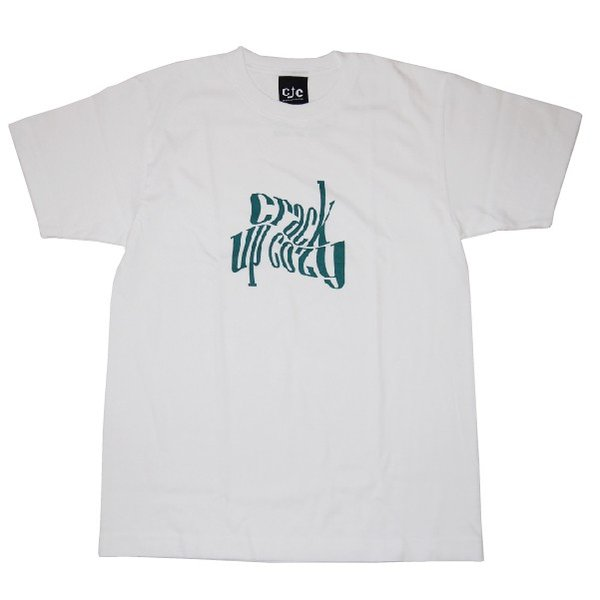 crack up cozy クラックアップコージー twistverdant Tee [White]|steelo