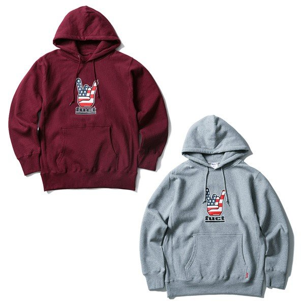 【SALE30%OFF】FUCT SSDD ファクト HORNED HAND PULLOVER HOODIE|steelo