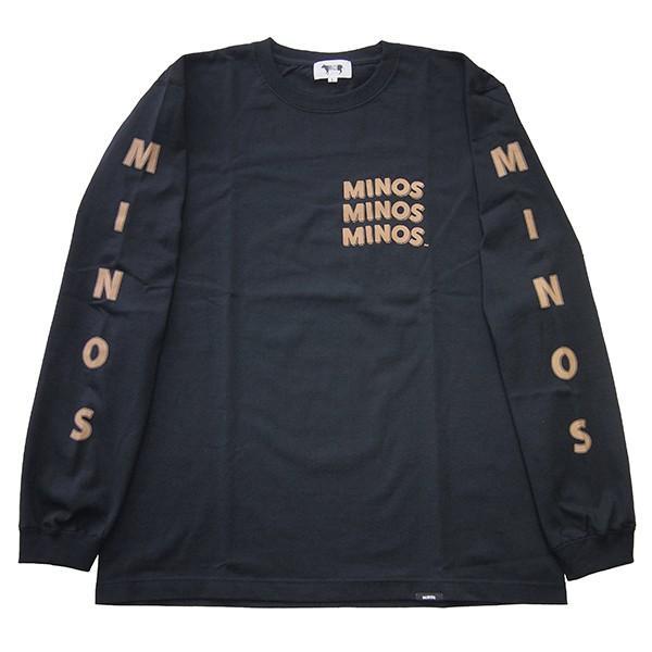 MINOS ミノス LS  CAMO LOGO HEAVY TEE|steelo|02