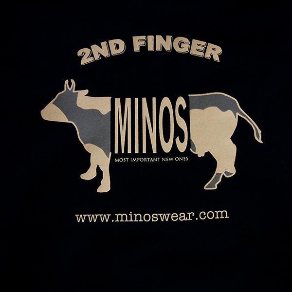 MINOS ミノス LS  CAMO LOGO HEAVY TEE|steelo|06