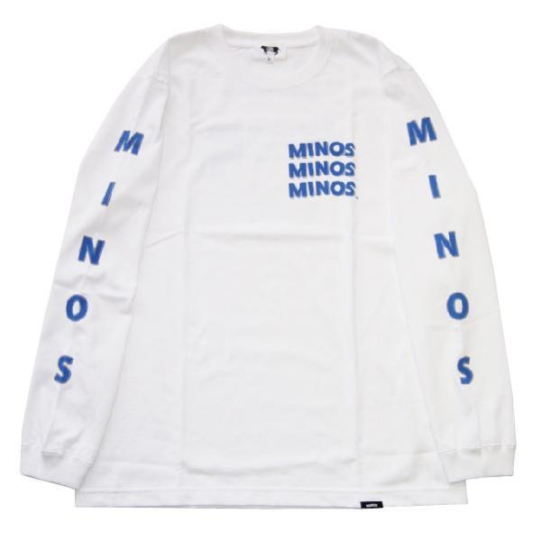 MINOS ミノス LS  CAMO LOGO HEAVY TEE|steelo|07