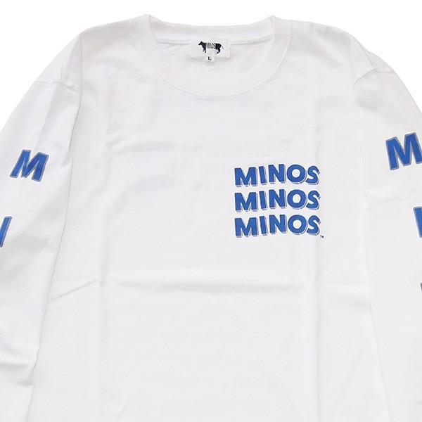 MINOS ミノス LS  CAMO LOGO HEAVY TEE|steelo|09