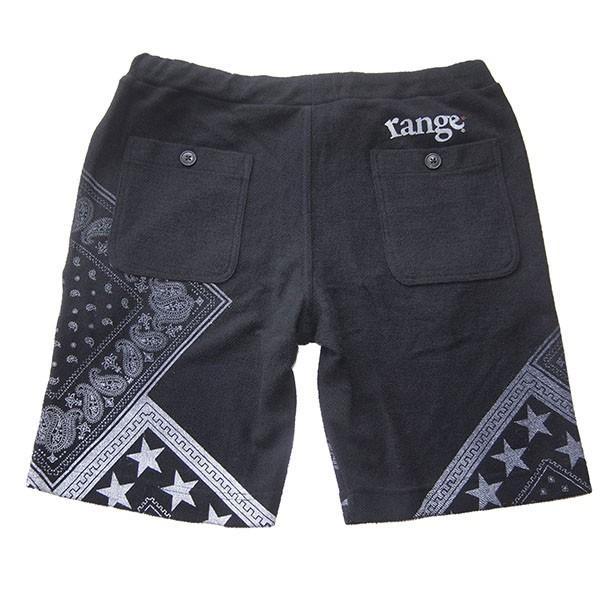 range レンジ  pile bandanna print shorts steelo 03