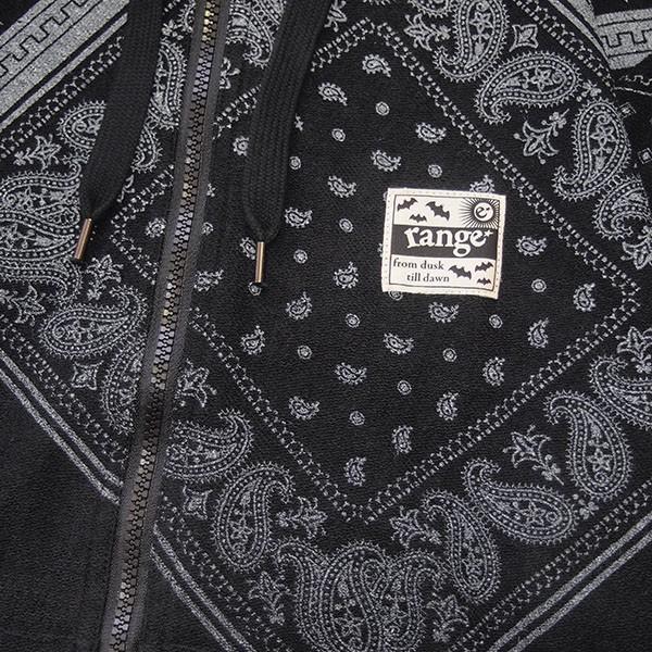 range レンジ  pile bandanna print zip parka|steelo|03