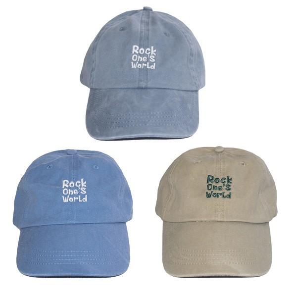 ROCK ONE'S WORLD ロックワンズワールド LOGO PIGMENT LOW CAP|steelo