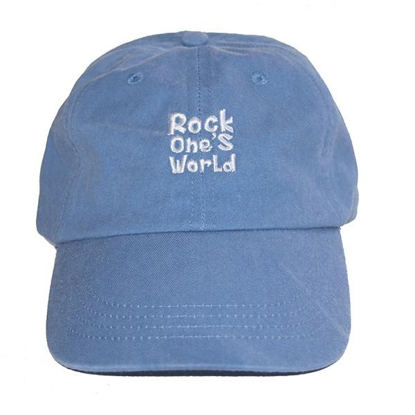 ROCK ONE'S WORLD ロックワンズワールド LOGO PIGMENT LOW CAP|steelo|02