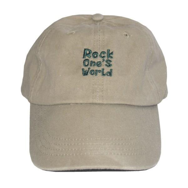 ROCK ONE'S WORLD ロックワンズワールド LOGO PIGMENT LOW CAP|steelo|05