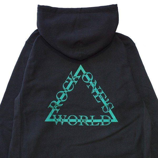 ROCK ONE'S WORLD ロックワンズワールド  TRIANGLE LOGO HOOD|steelo|05