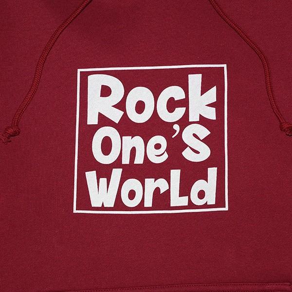 ROCK ONE'S WORLD ロックワンズワールド SQUARE LOGO HOODIE|steelo|03