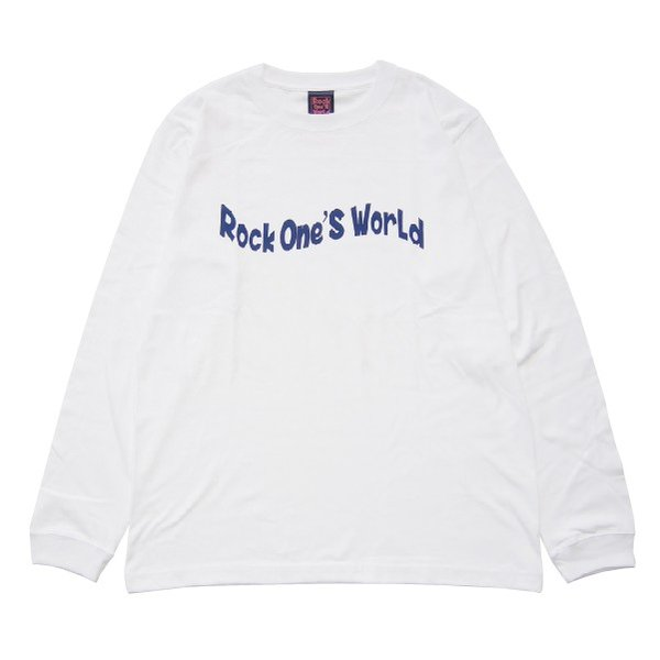 ROCK ONE'S WORLD ロックワンズワールド FLAG LOGO L/S TEE|steelo