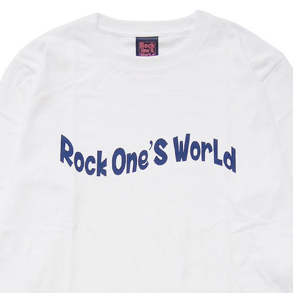 ROCK ONE'S WORLD ロックワンズワールド FLAG LOGO L/S TEE|steelo|02