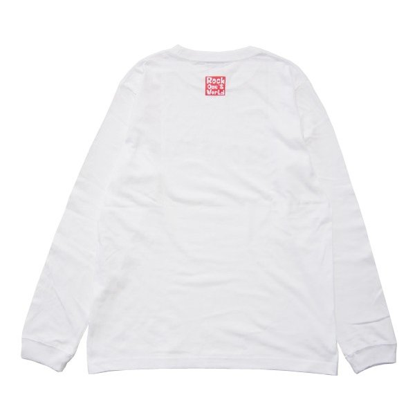 ROCK ONE'S WORLD ロックワンズワールド FLAG LOGO L/S TEE|steelo|03