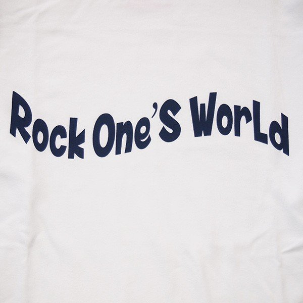 ROCK ONE'S WORLD ロックワンズワールド FLAG LOGO L/S TEE|steelo|05