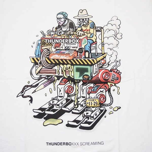 THUNDER BOX サンダーボックス THUNDERBOXXX SCREAMING TEE|steelo|03