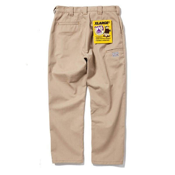 X-LARGE エクストララージ  SIDE POCKET WORK PANT|steelo|02