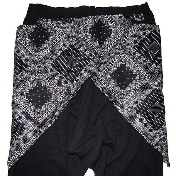 ZEPHYREN ゼファレン WAIST CLOTH SAROUEL PANTS BLACK|steelo|04