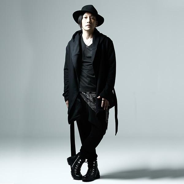 ZEPHYREN ゼファレン WAIST CLOTH SAROUEL PANTS BLACK|steelo|05